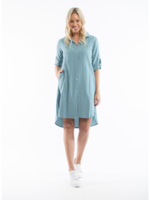 Orientique Essential Dress in Duckegg