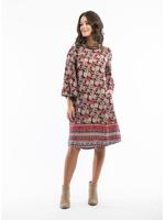 Orientique Pallazo Parisio Print Dress