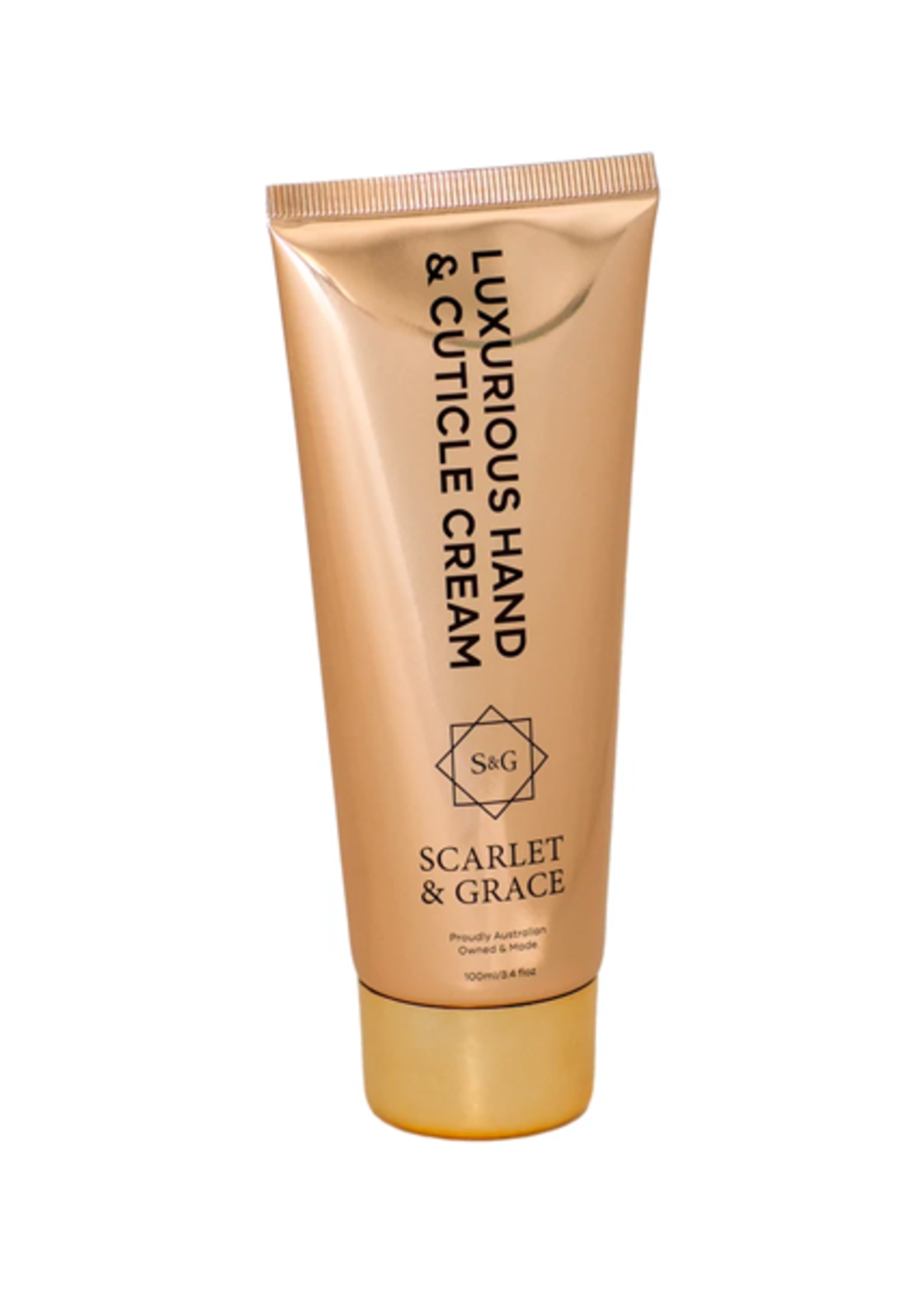 Scarlet & Grace 100ml Hand Cream - Vanilla, Patchouli & Sandalwood