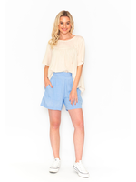 DW80E Shorts in Chambray Blue