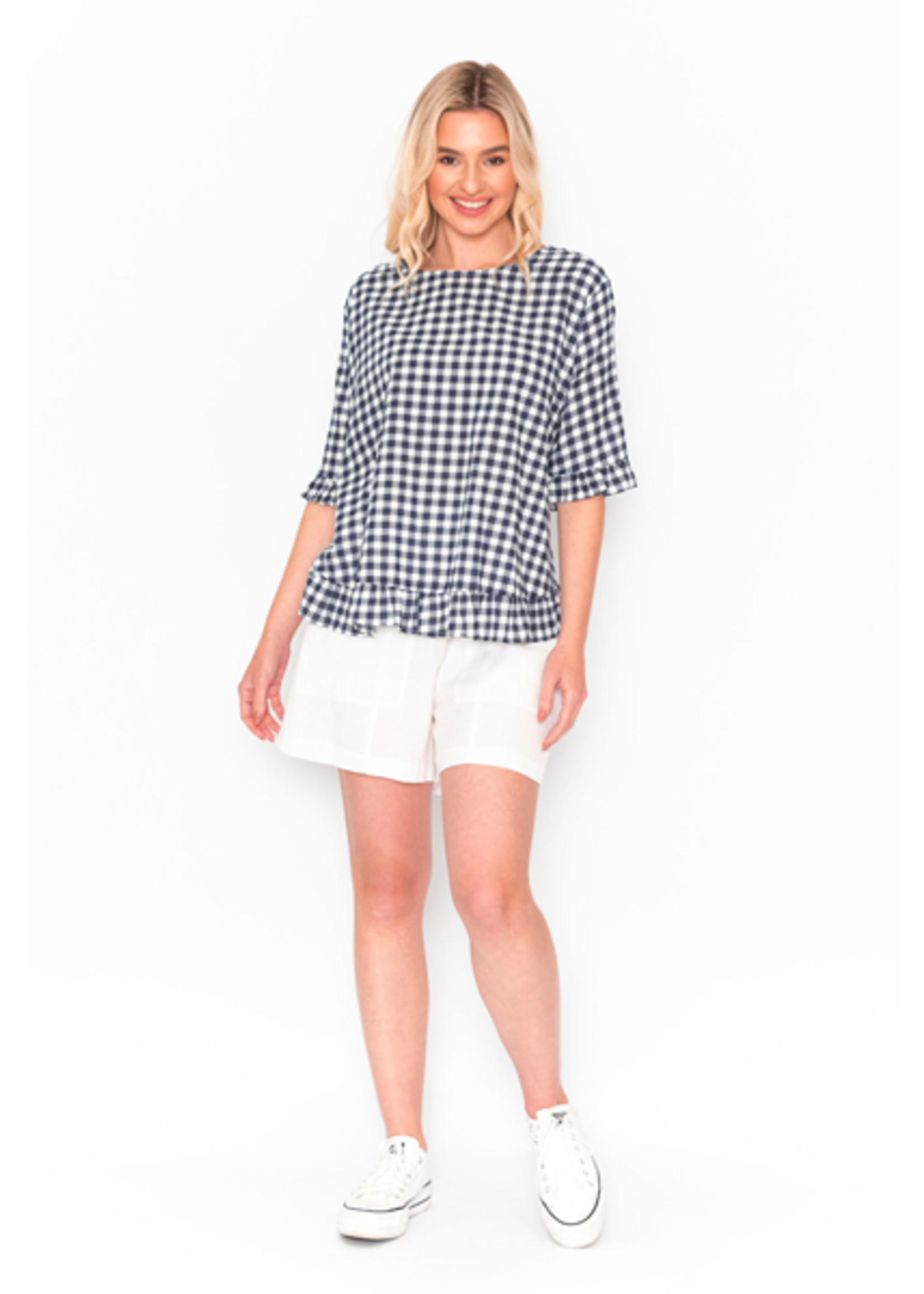 DW70E Gingham Top