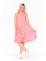 DW76E New Gingham Dress