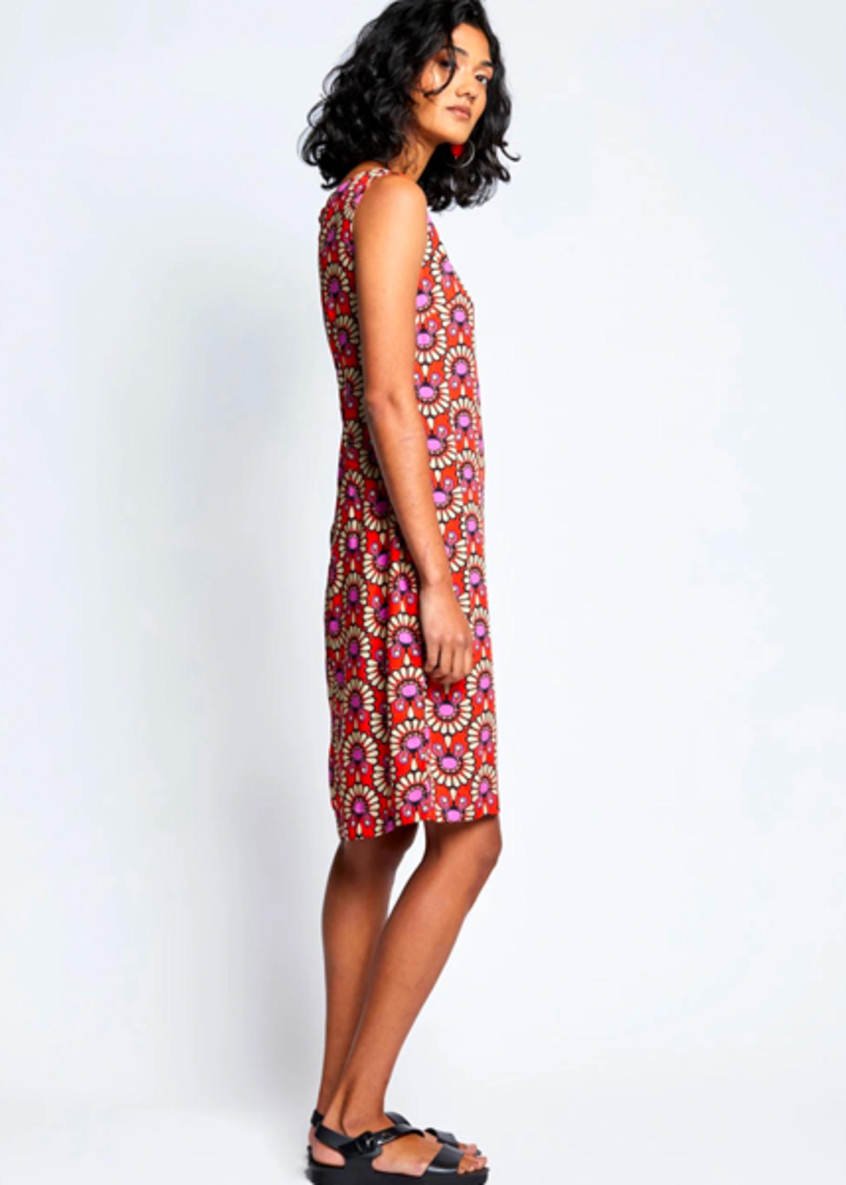Totem Sare Dress in Cocar Paprika