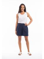 Orientique Essentials Linen Shorts in Navy