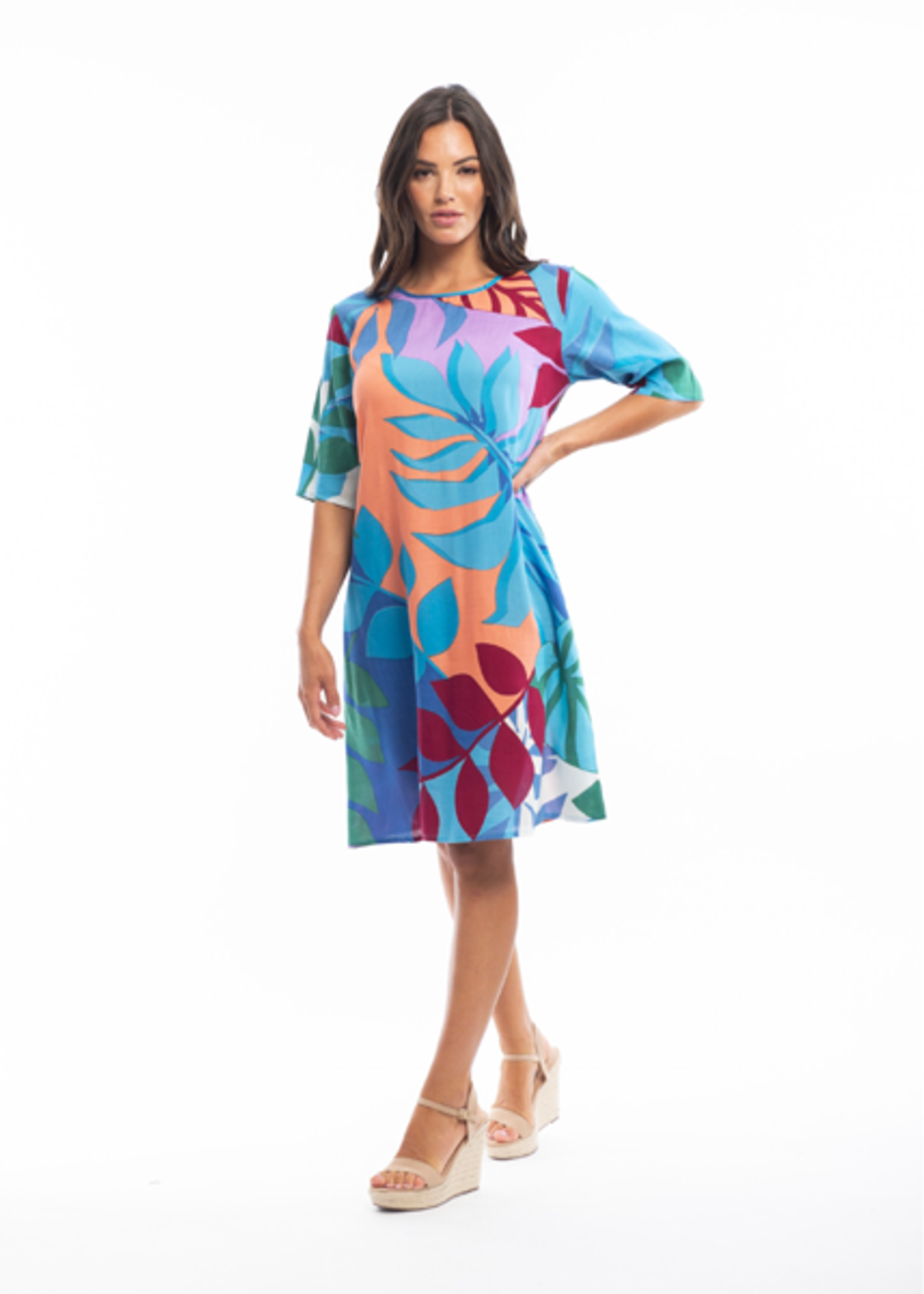 Orientique Barbeyrolles Contemporary Dress in Print