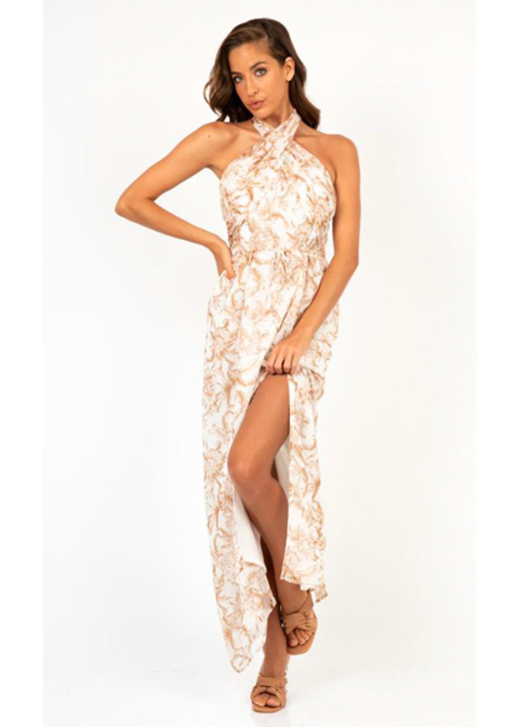 Honey & Beau Luxe Flower Maxi Dress