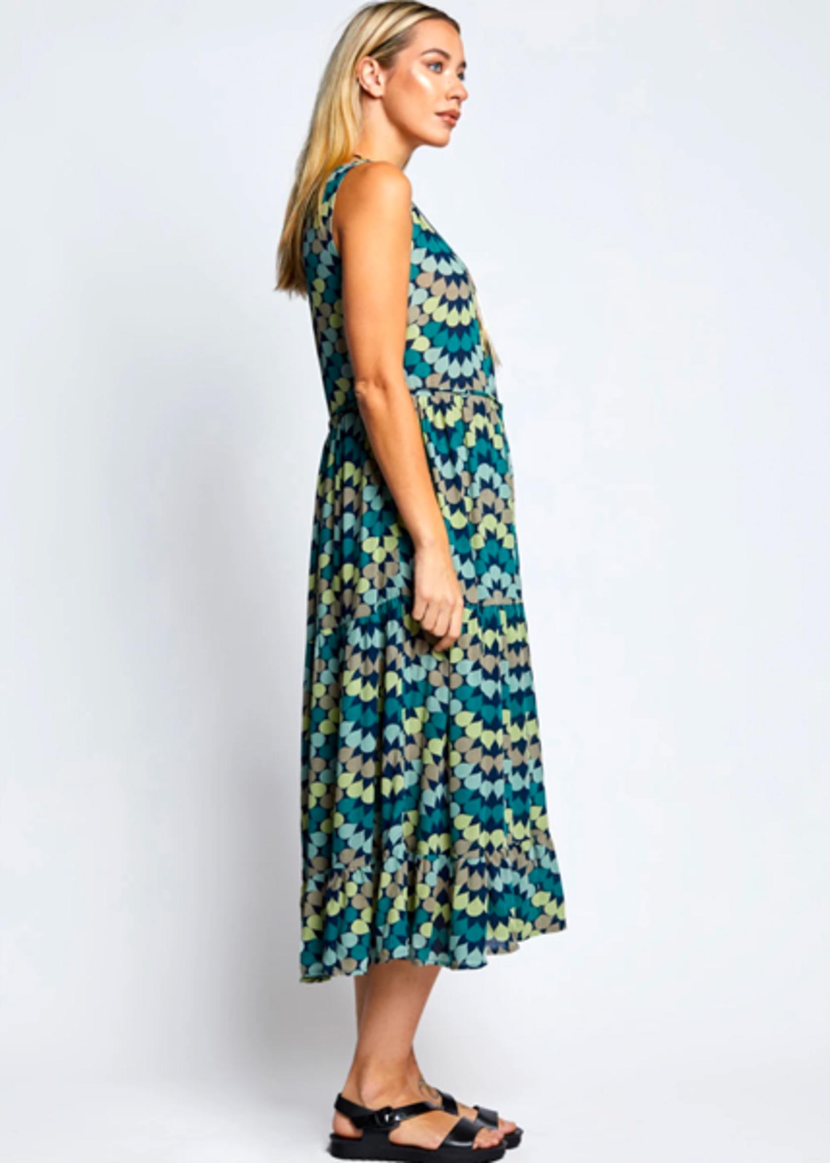 Totem Bisa Dress in Travel Eden