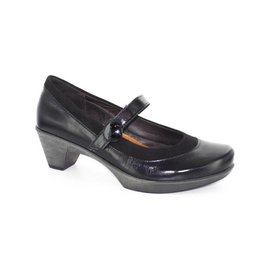 Naot Footwear Latest in Black Gloss Combo