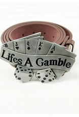 Life's A Gamble Belt Buckle