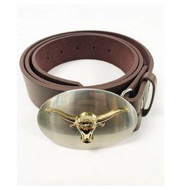 Gold Long - Horn Belt Buckle