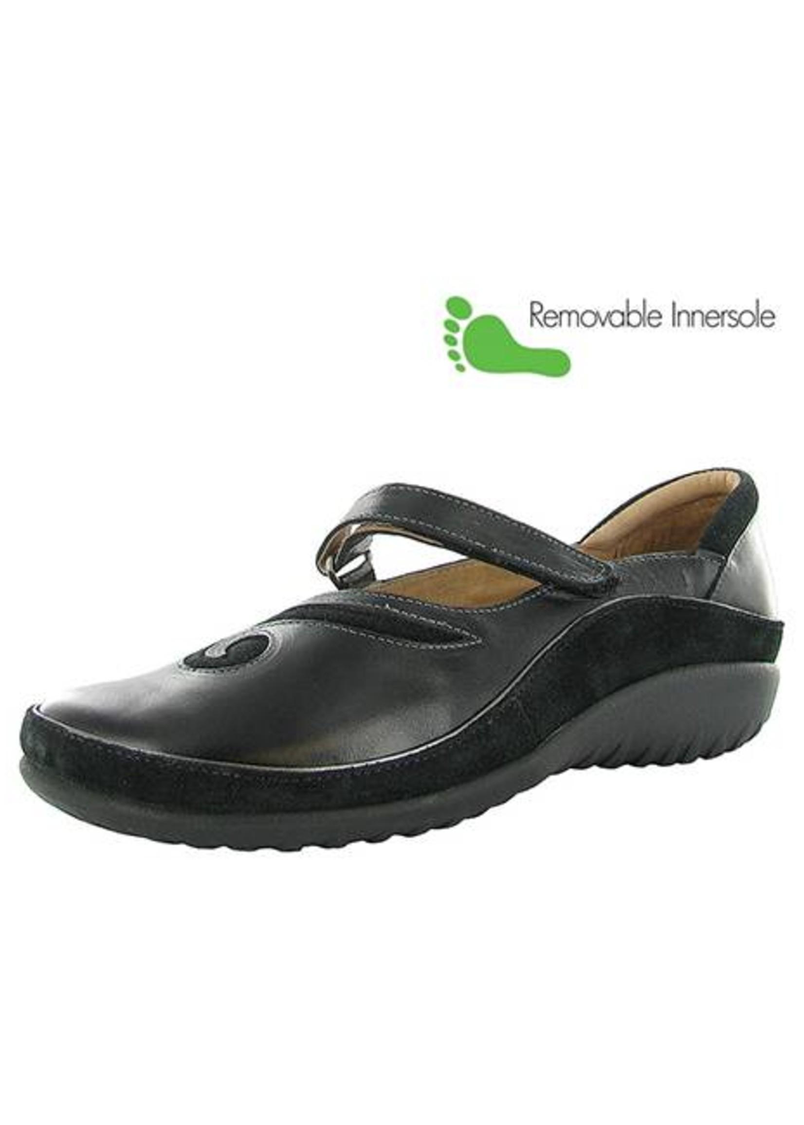 Naot Footwear Matai in Black Madras