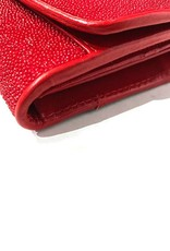Crocodile & Stingray Products Ladies Stingray Wallet - Red