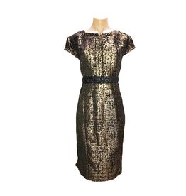 Downton Dress in Black/Gold