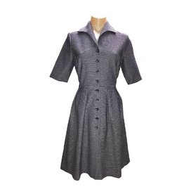Nora Shirt Dress in Navy/Denim
