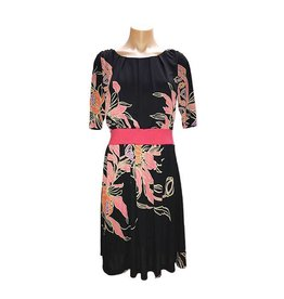 Skyros Empire Dress in Black