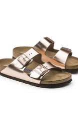 Birkenstock Arizona Natural Metallic Leather in Copper (Soft Footbed- Suede Lined)