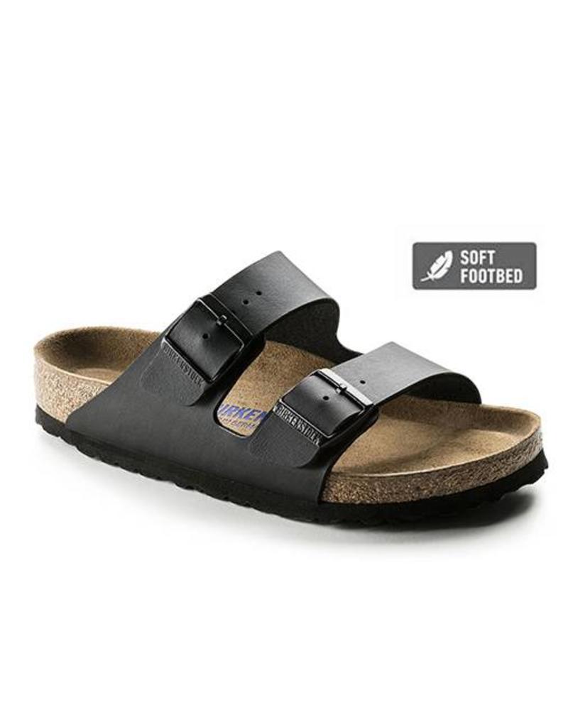 0b464a67b5f1 Birkenstock Arizona Birko-Flor Black Soft Footbed Sandals