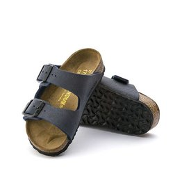Birkenstock Arizona Kids - Birko-Flor Nubuck in Navy
