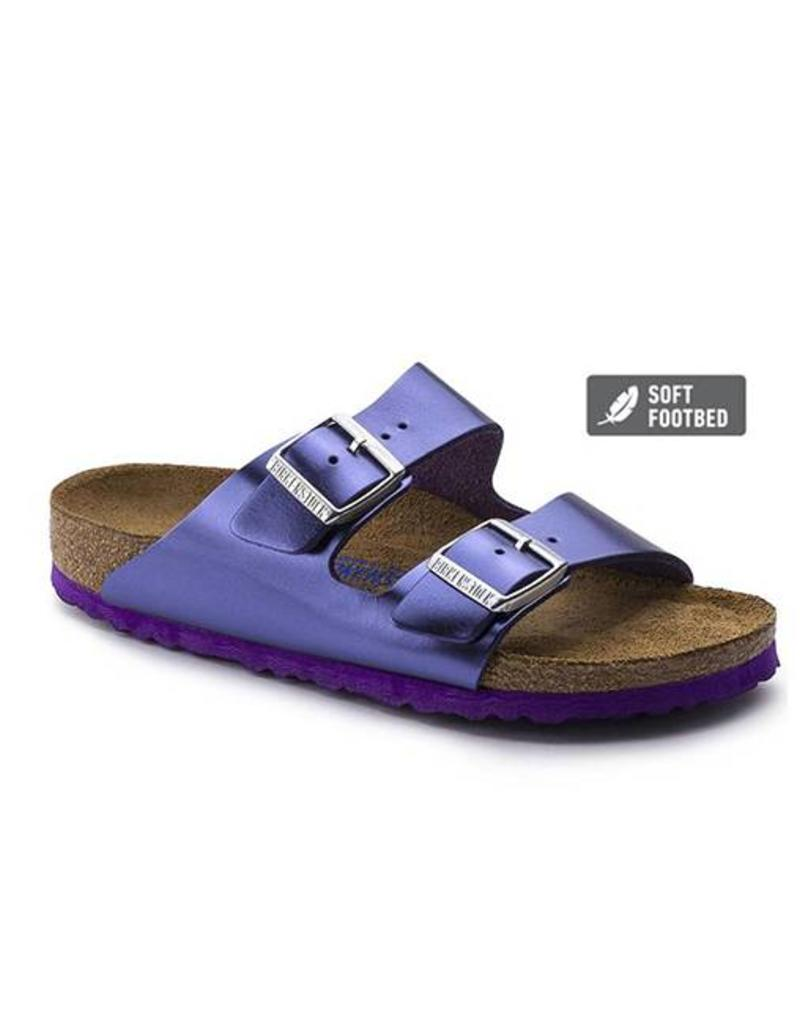 7162375ee518 Arizona - Natural Metallic Leather in Violet (Soft Footbed) ...