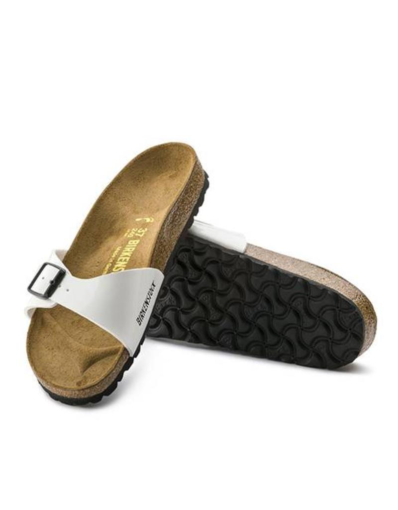 8644187d9d1d ... Madrid - Birko-Flor Patent in White (Classic Footbed - Suede Lined) ...