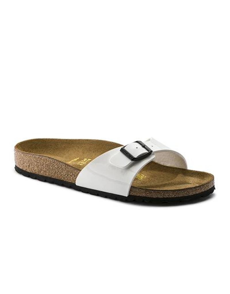 Madrid - Birko-Flor Patent in White (Classic Footbed - Suede Lined) ... 17fb96a2544