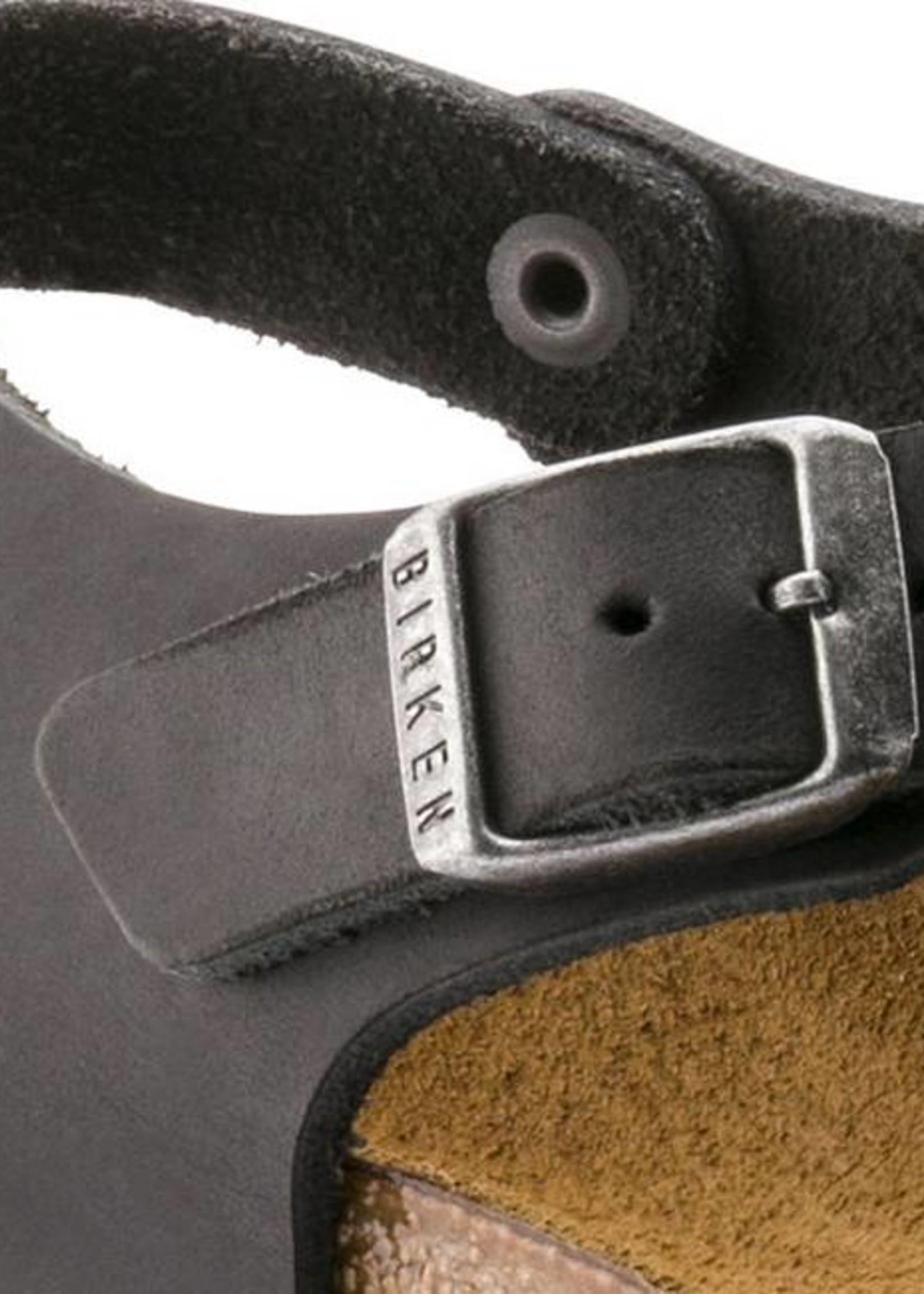 Birkenstock Kairo - Natural Leather in Black