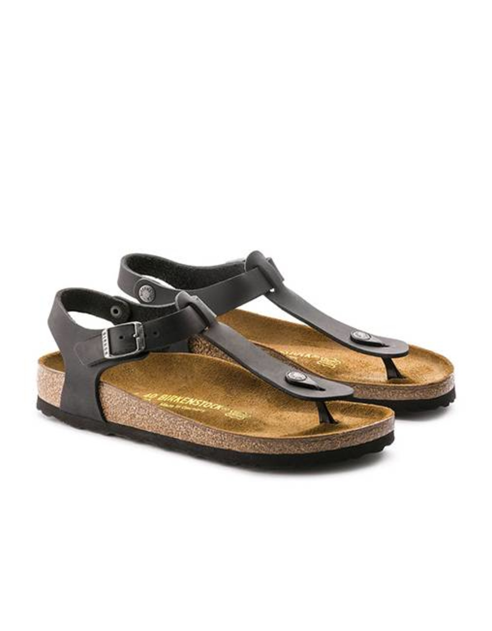 Birkenstock Kairo - Natural Leather in Black