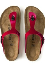 Birkenstock Gizeh -  Birko-Flor Patent in Tango Red (Classic Footbed - Suede Lined)