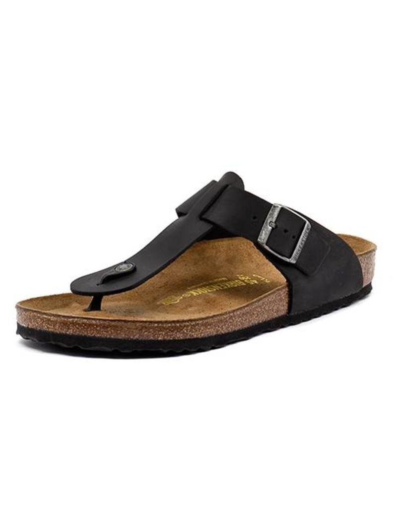 143b2cb68580e Medina - Natural Leather in Black (Classic Footbed - Suede Lined) ...