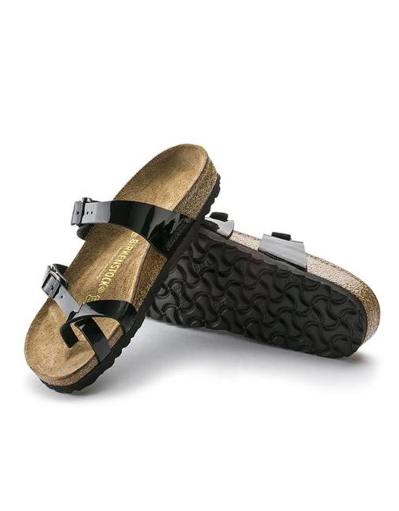 d887109b9980 ... Birkenstock Mayari - Birko-Flor Patent in Black (Classic Footbed -  Suede Lined) ...