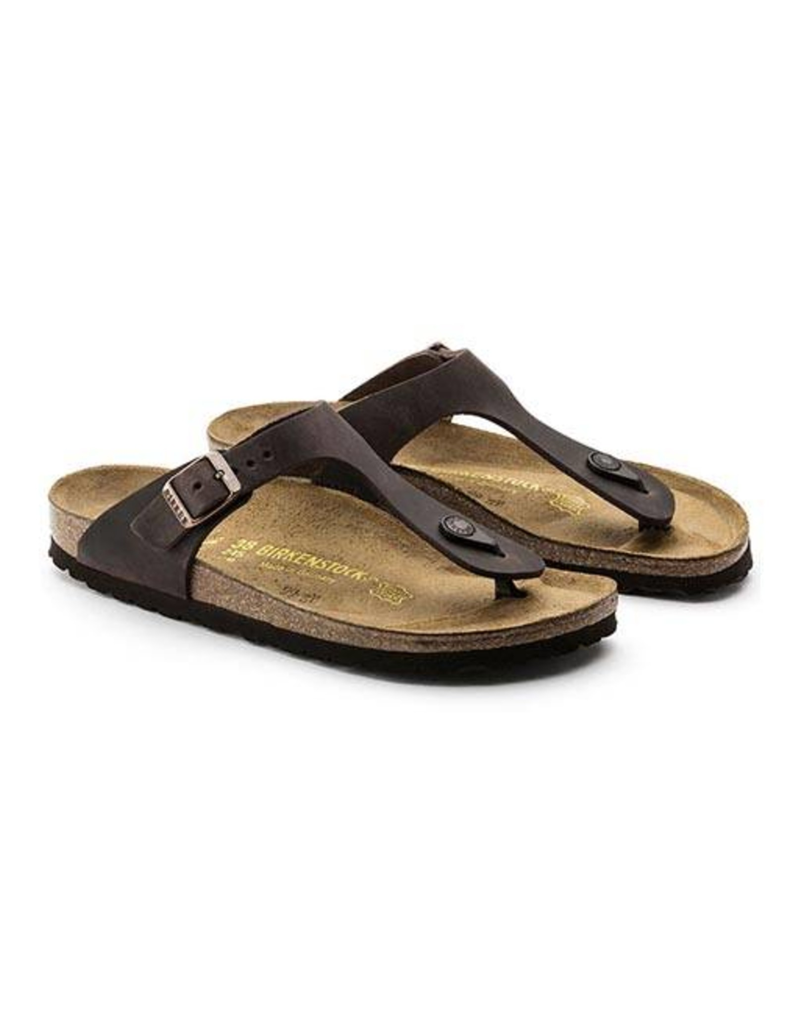 Birkenstock Gizeh -  Natural Oiled Leather in Habana