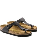 15bcdb13251 Shop Birkenstock Gizeh Birko-Flor Black Sandals Online - Fe s ...