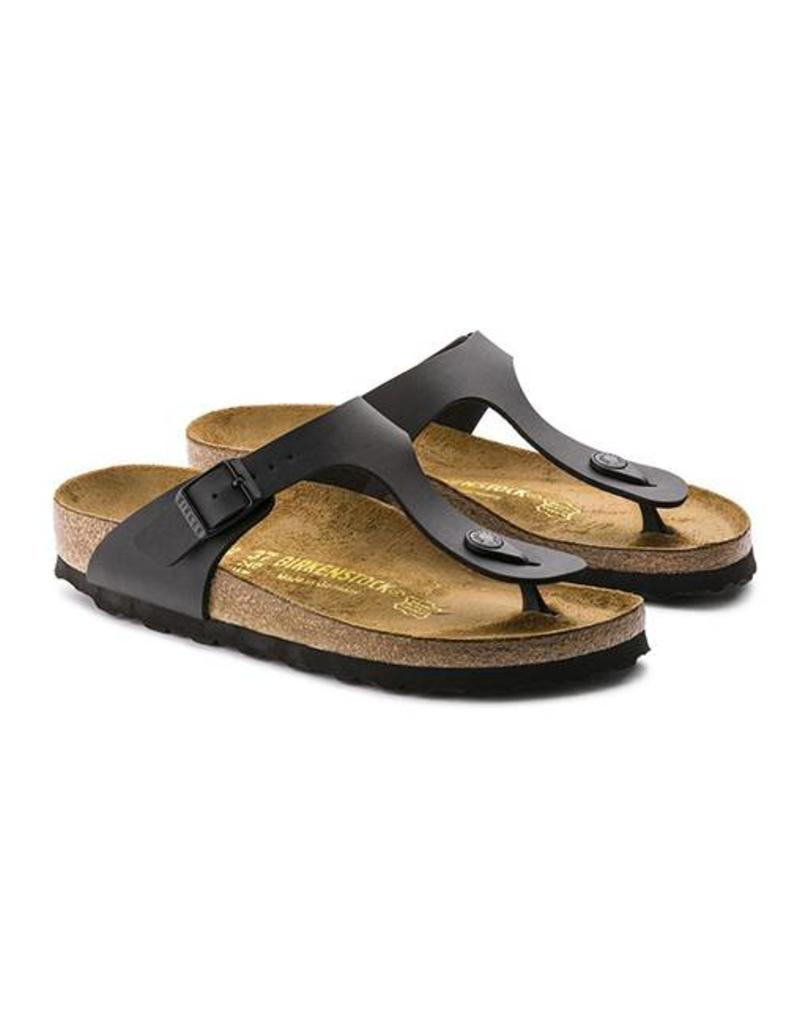 36223c24ea ... Gizeh - Birko-Flor in Black (Classic Footbed - Suede Lined) ...