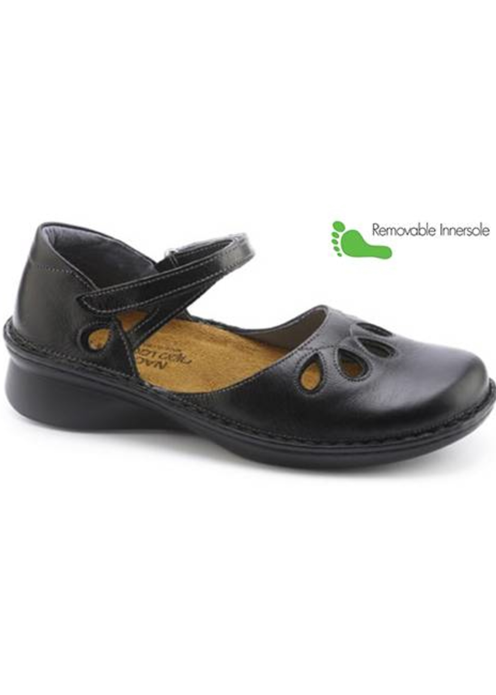 Naot Footwear Motif in Black Madras