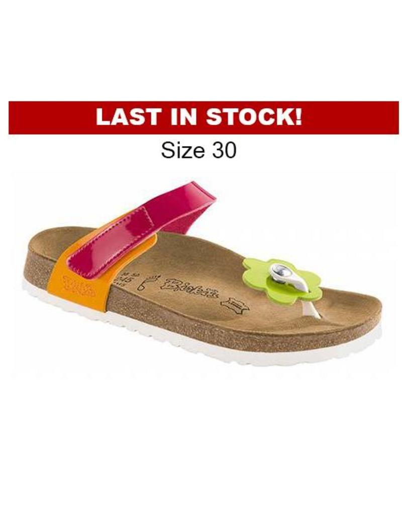 Tofino Kids - Birko-Flor Patent in Pink Mix (Classic Footbed - Suede Lined  ... aeda499ef9f
