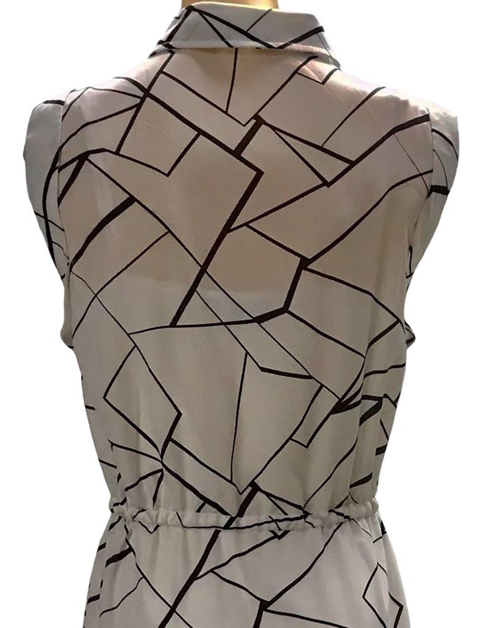 Elliatt Slash Shirt Dress in Monochrome