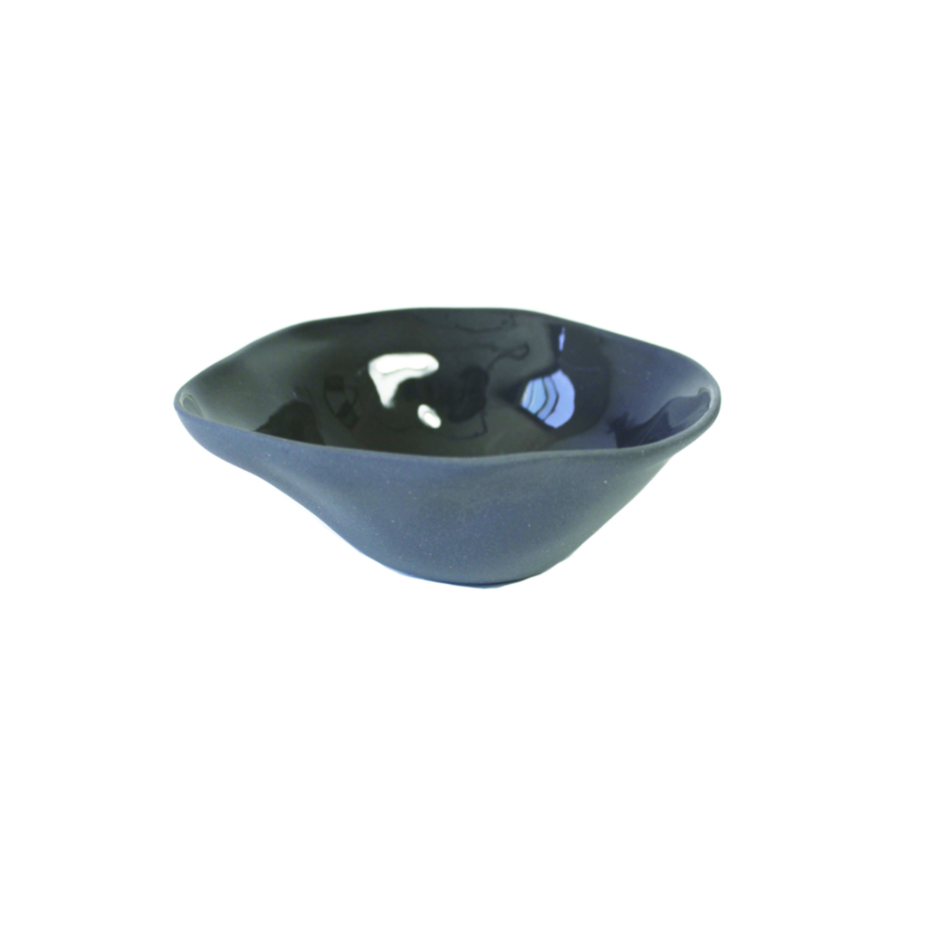 Slate Stoneware Pinch Bowl