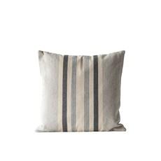 "20"" Square Cotton Striped Pillow"