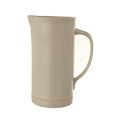 White Stoneware Pitcher - 56 oz.