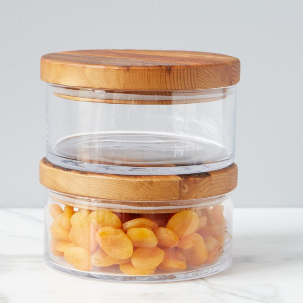 Slate Classic Wood Top Canister