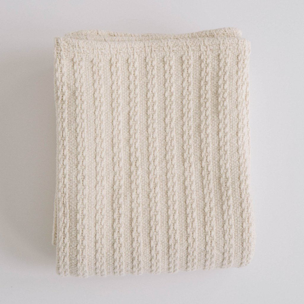 Evangeline Cable Knit Baby Blanket