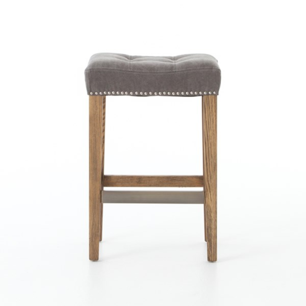 Slate Gray Canvas Counter Stool