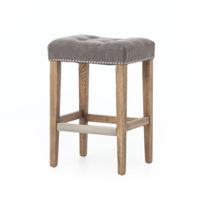 Gray Canvas Counter Stool