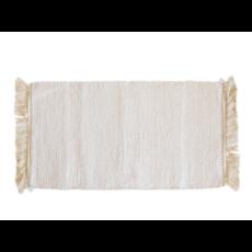 Creme Bath Mat With Fringe