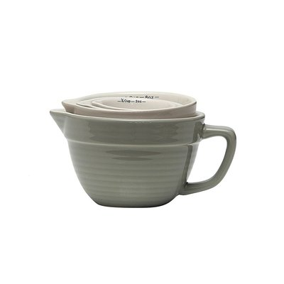 Stoneware Grey Measuring cups