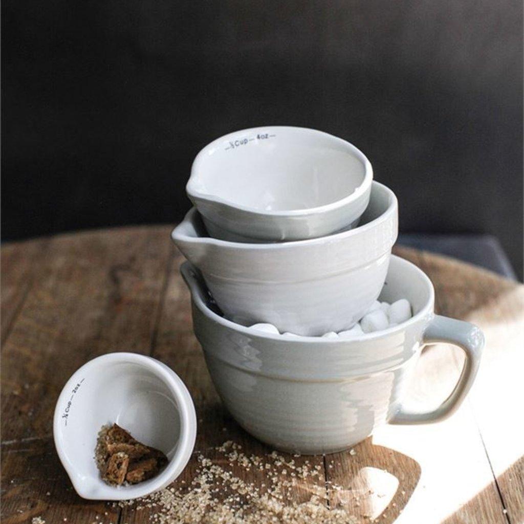 Slate Stoneware Grey Measuring Cups
