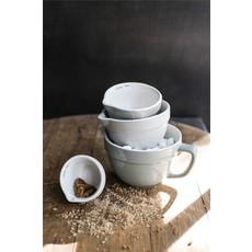 Stoneware Grey Measuring Cups