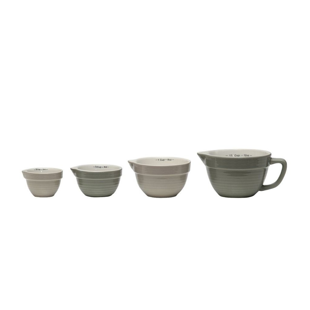 Slate Stoneware Grey Measuring Cups