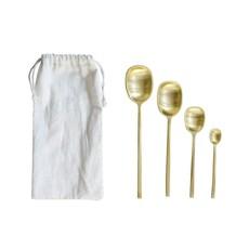 Slate Set of 4 Brass Spoons