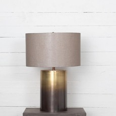 Ombre Antique Brass Table Lamp